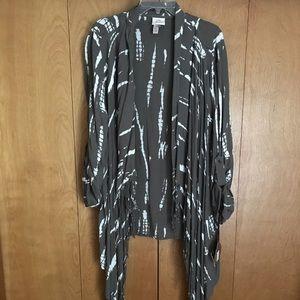Knox Rose NWT Olive Tie Dye Kimono Sz XXL